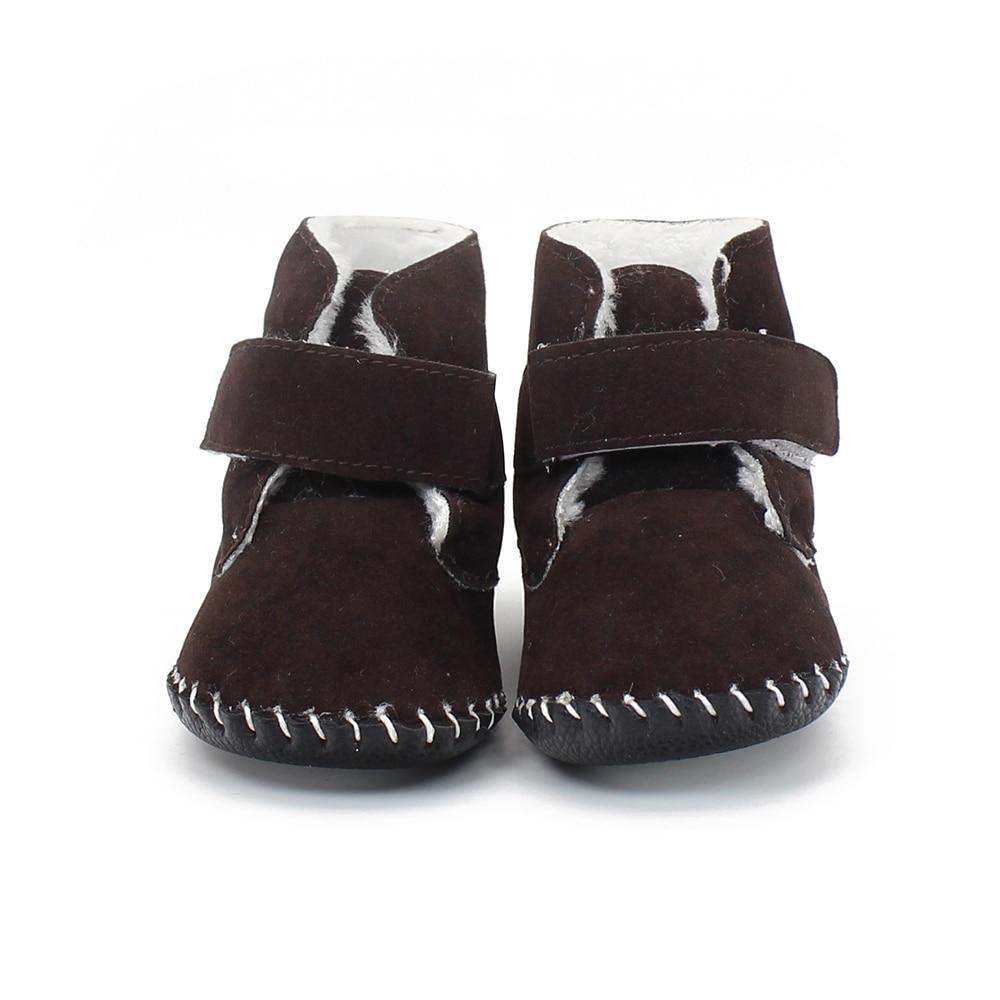 2017 de Invierno Zapatos de Bebé Calientes Esmerilado Flocado Bebés Bebé niños N