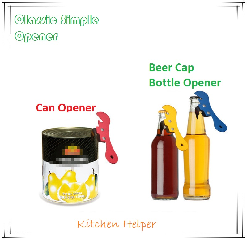 2016 new simple can opener kitchen accessories classic tin openers multifunction beer cap bottle. Black Bedroom Furniture Sets. Home Design Ideas