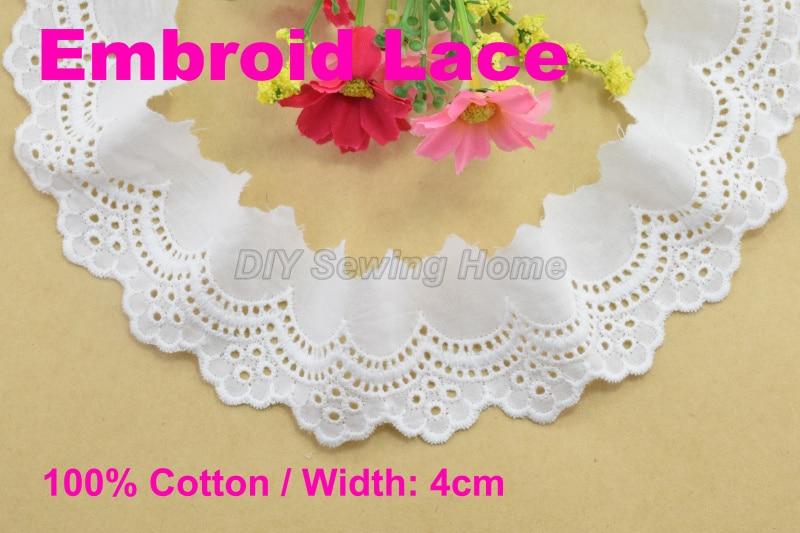 Aliexpress.com : Buy 4cm Width 100% Cotton Embroid Lace