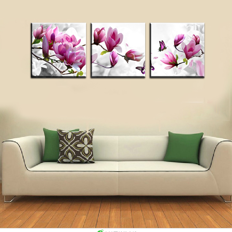 Us 5 6 49 Off Luxury Elegant Canvas Painting Wall Pictures 3 Panel Wall Art Such Beauty Flower Canwas Art Home Decor Modern Canvas Prints In