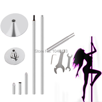 GGWG 1 45mm Portable Spinning Dance Pole Dancing Fitness Home GYM Kit Equipment Exercise Stripper Strip