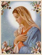 Diamant Diy 5D Diamond Painting Cross Stitch Looked Down The Virgin Mary Needlework Embroidery Full Decorative
