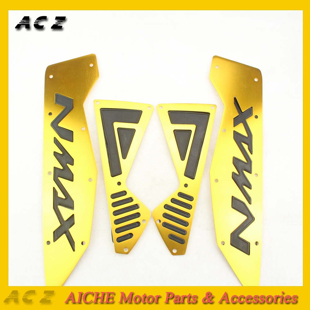 Motorcycle Modified Parts Mats CNC Footrest Aluminum Alloy Pedal Plate For Yamaha Nmax 155 Nmax155 Nmax 125 2016 2017 2018 2019