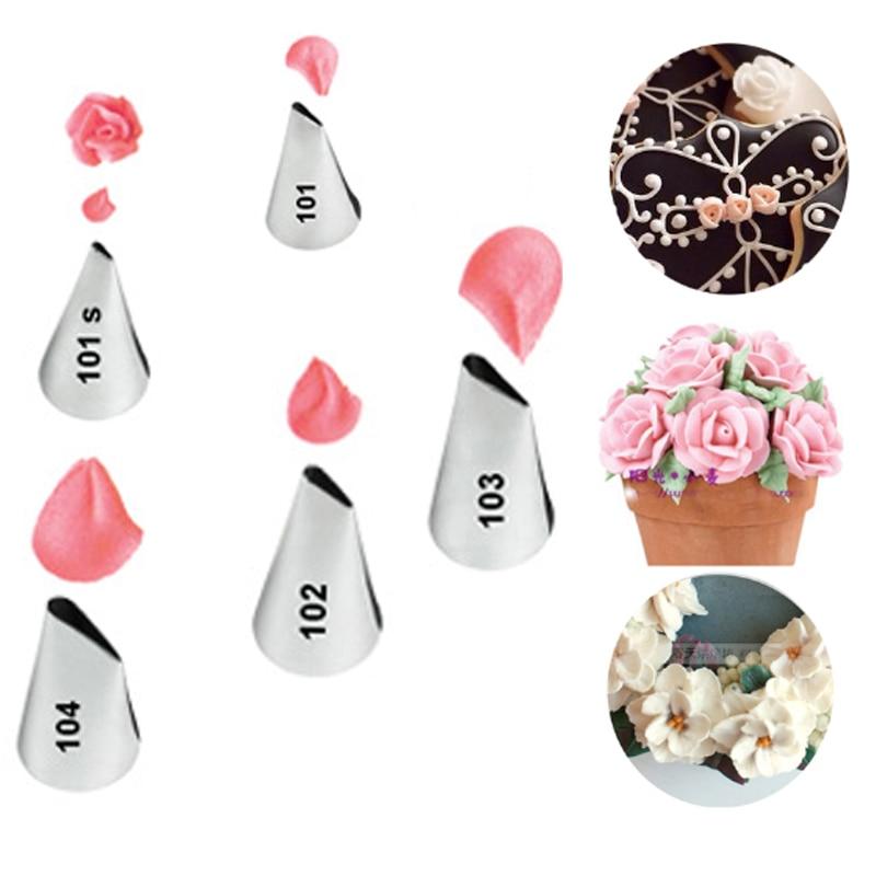 5pcs ugelli di petalo di fiore punte di pasticceria di crema di - Cucina, sala da pranzo e bar