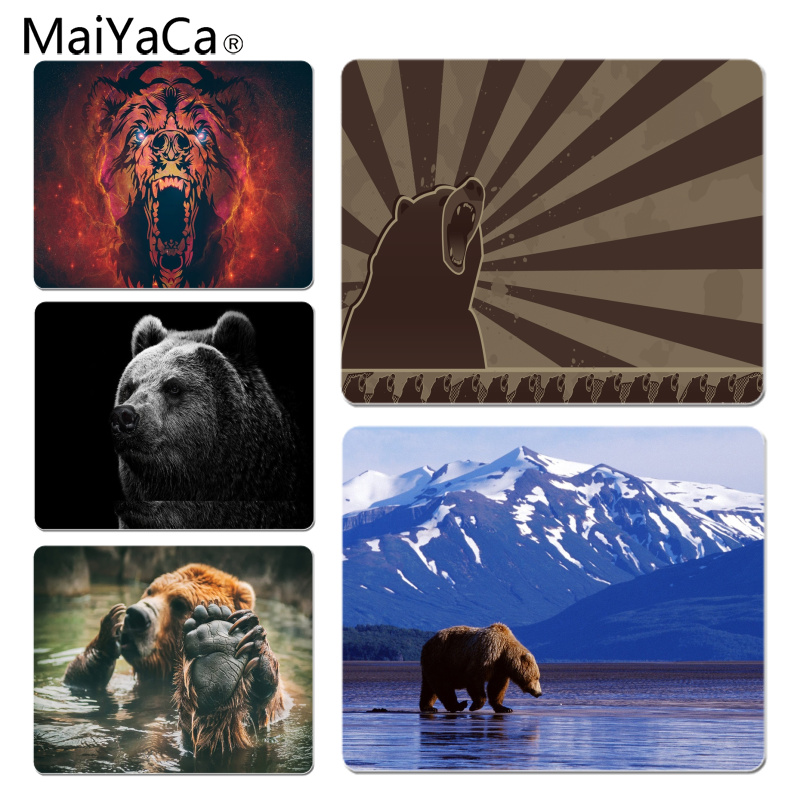 MaiYaCa Hot Sales Cute Bear Large Mouse pad PC Computer mat Size for 180x220x2mm and 250x290x2mm Rubber Mousemats