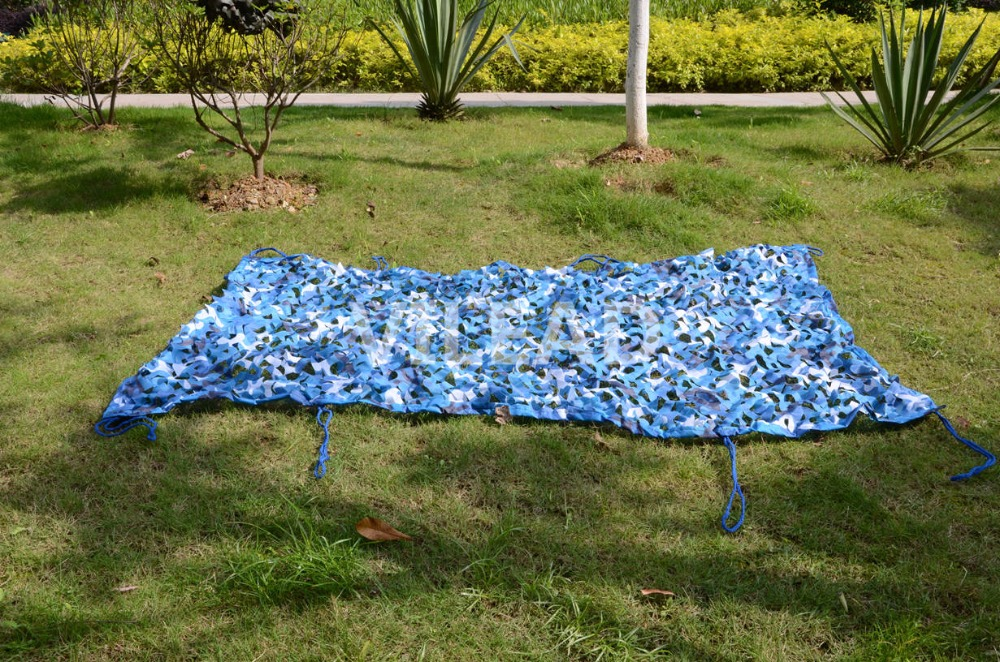 VILEAD 6x9M Camouflage Garden Netting Fence Blue Camo Mesh Netting For Outdoor Sunshade Photography Background Decoration thumbnail