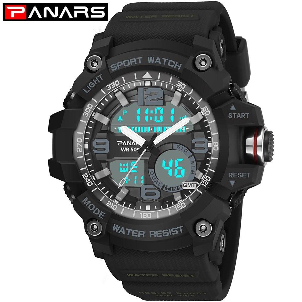 Men's Watches Panars Muti-functional Compass Outdoor Digital Watch Male Electronic Compass Waterproof Watch Smart Bracelet Cheap Sales