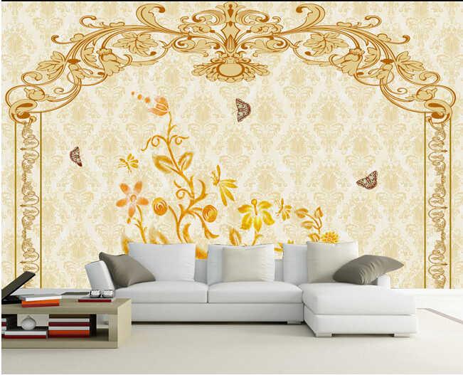 O costume 3D, murais de Luxo europeu-estilo padrão decorativo de mármore, sala de estar sofá TV parede do quarto papel de parede