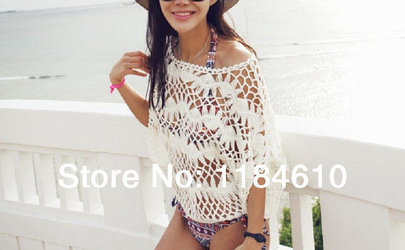 SALE Rushgard Women Lace Blouse Summer Beach Swimwear Cover Up Inspiration Crochet Swimsuit Cover Up Pattern