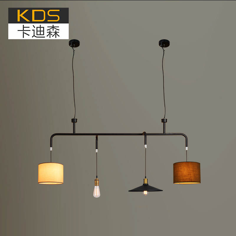 the nordic minimalist dining room lights retro billiard lamp creative personality industrial wind free combination bar billiard room lighting