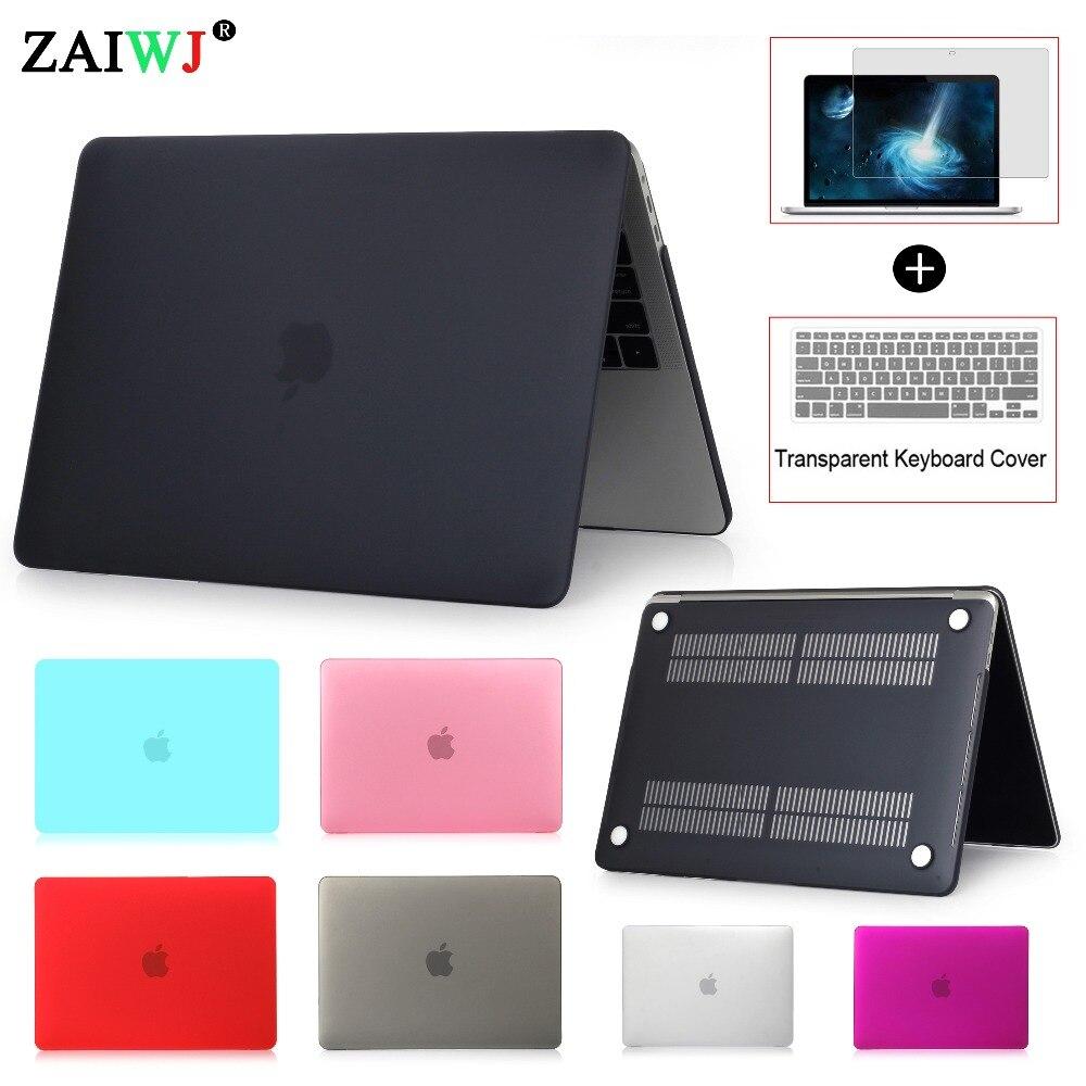 Nuevo 2018 ZAIWJ Portátil Bolsa para MacBook Air Pro Retina, 11 12 13 15 para Mac nuevo Pro 13 15 pulgadas con Touch Bar + teclado cubierta