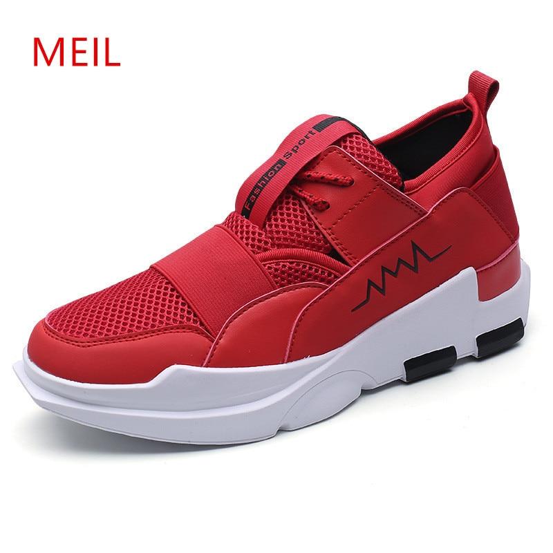 Hommes baskets printemps été augmenté 6 CM homme décontracté respirant maille chaussures étudiant hommes chaussures Tenis Masculino mâle ascenseur chaussures