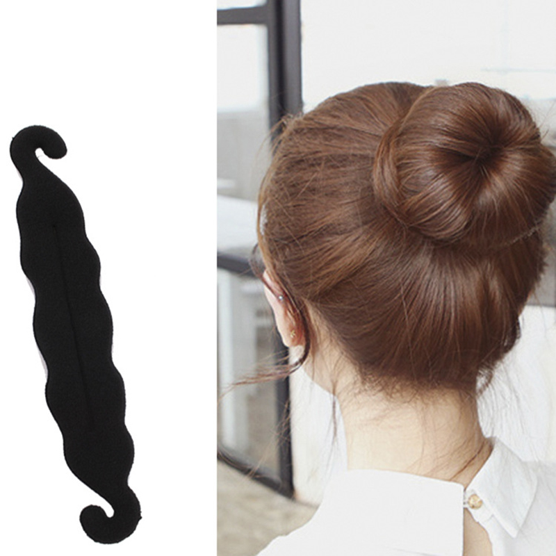 1 Pcs Women Magic Foam Sponges Styling Hair Clip Device Donut Quick Messy Bun Maker Updo Hairs Clips Tools Hair Accessories