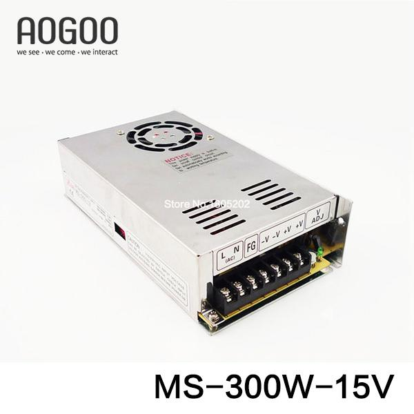 Mini-size 300W 15V 20A Switch Mode Switching Power Supply MS-300-15 door handles wholesale price theft whole zinc alloy handle door panel