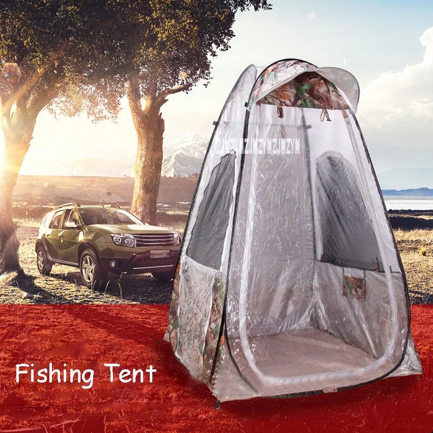 Tente de pêche d'hiver une personne imperméable à l'eau d'été Pop Up tente Portable automatique ouverture tente extérieure étanche à la pluie Protection UV