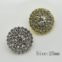 2017 Hot Sale of the Real Estate 5PC  round sewing Buckles Very Brilliant Bridal Jewelry Rhinestone Buttons Diamante Cryustal
