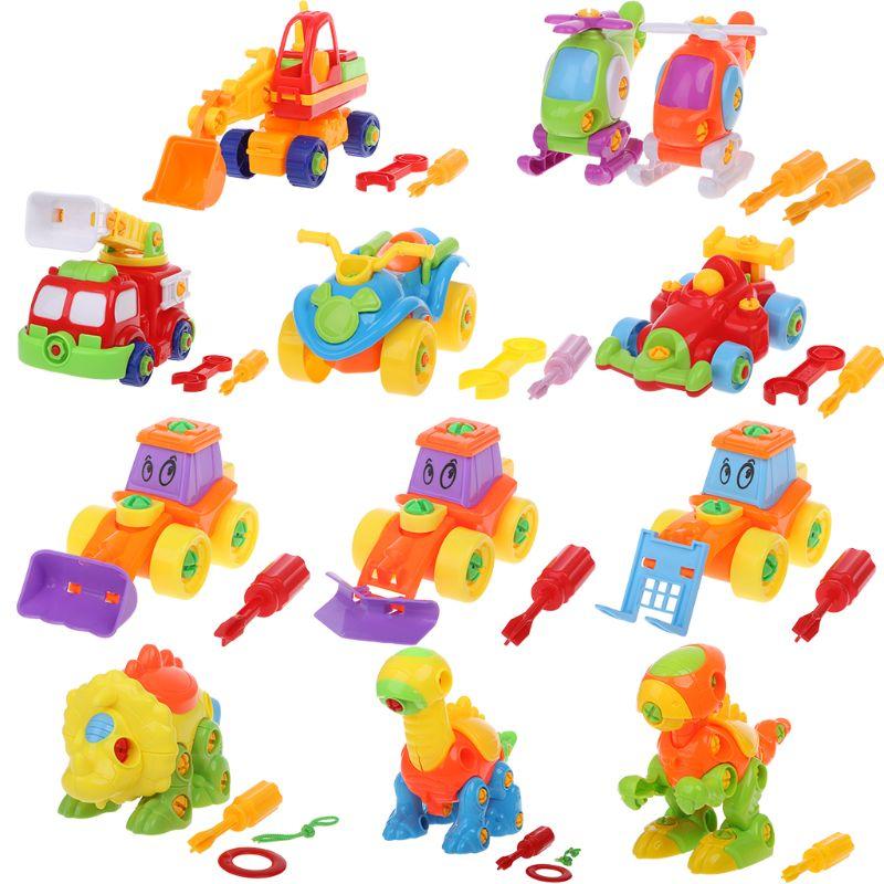 Simulatie 3d Techniek Voertuigen Helicopter Cartoon Dinosaurus Modellen Jigsaw Plastic Demonteren Puzzel Kids Educatief Speelgoed We Hebben Lof Van Klanten Verdiend