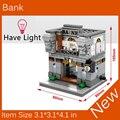 2017 Новый Мини Street View Строительный Блок Банк Свет Совместимость С Legoes Город Игрушки SD6508 Рождественский подарок