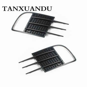 Front Bumper Lower Grille + Pair Foglight Grill Cover Bezel For VW Golf GTI MK6