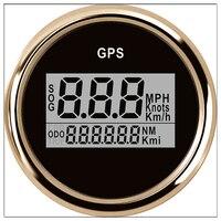 52mm Digital car speedometer GPS Odometer LCD display Mile Per Hour knots Meter For Boat With Back light 12 V 24 V