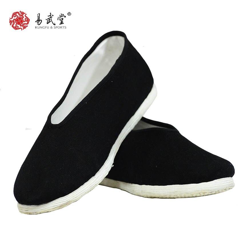 YWT23 Tai chi shoes practice shoes kung fu shoes Peking handmade 100% cotton beijing multi-layered sole cotton shoes FREE SHIP