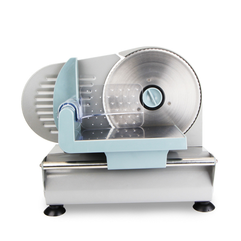 Household Electric Small Stainless Steel Meat Slicer Beef Ham Lamb Semi-automatic Slicer