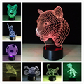 New Arrival Creative Animal Shark Night Light 3D Lamp LED Night Light Acrylic Colorful Gradient Atmosphere Lamp Novelty Lighting