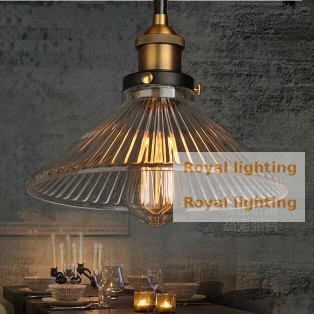 Loft 1 pcs Retro Industrial Lighting kitchen lamp dining room glass Pendant Lights Vintage