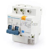 DZ47 63 C6 6A Rated Current 2 Pole ELCB Earth Leakage Circuit Breaker