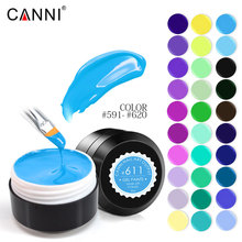#591-620  141C CANNI Soak off painting gel 5 ml Pure Colors Solid LED/UV Gel For Nail Design paint Color nail varnish