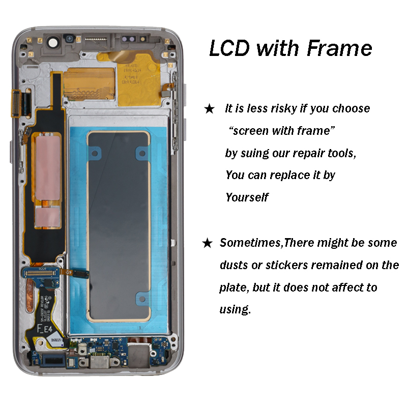 s7 edge display For Samsung S7 edge LCD G935 G935F Display LCD Screen Touch Digitizer Assembly free tools parts display s7 edge in Mobile Phone LCD Screens from Cellphones Telecommunications