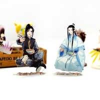 MO DAO ZU SHI Wei Wuxian Lan Wangji Essen Ver acryl stehen abbildung modell doppel-seite platte halter topper anime kühle nette