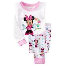 Продажа наборы девочки мальчики костюмы длинным пижамы рукавом мультфильм одежда дети
