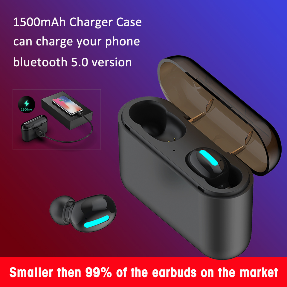 Q32 Wireless Earbuds 5.0 Bluetooth Mini TWS Earphones for iPhone/Samsung/HUAWEI Hearing-aid Power Bank Stereo Bass Cheap New image
