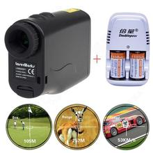 Free shipping!Monocular Waterproof Laser Rangefinder Hunting Golf Scope +Dual Charger+Battery