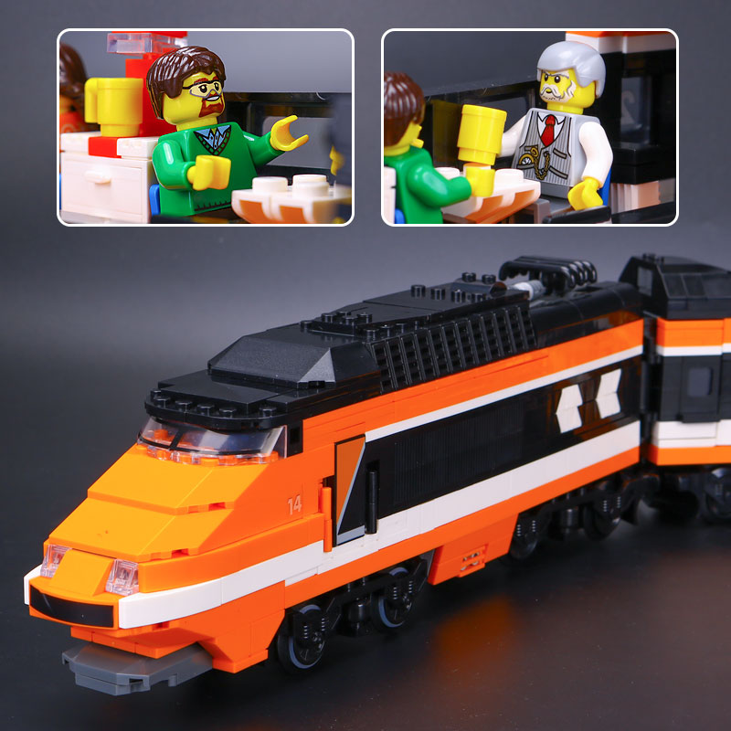 ФОТО New 1068pcs  21007 Creator Horizon Train Series The Horizon Express Model Building Blocks Bricks Educaitonal Toys 1023