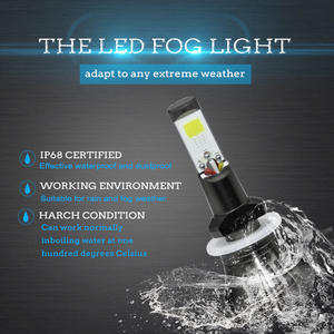 Image 2 - LSlight רכב ערפל פנס הנורה H27 H3 H8 H11 H9 880 881 אוטומטי נגד ערפל אורות 12V 55W 6000K 8000K 9600lm לבן כחול ערפל קרח מנורה