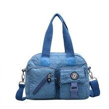 48f5f120467ba Kadın Naylon Çanta Kadın Çapraz vücut omuz çantaları Bayanlar Su Geçirmez  Tuval postacı çantası Bolsa Feminina