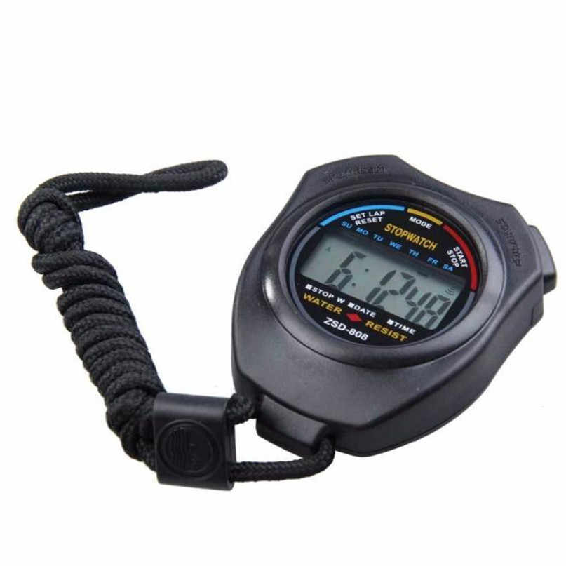 Multi-Function Digital Professional Handheld LCD Chronograph กีฬานาฬิกาจับเวลาหยุดนาฬิกาเข็มทิศ #4M10