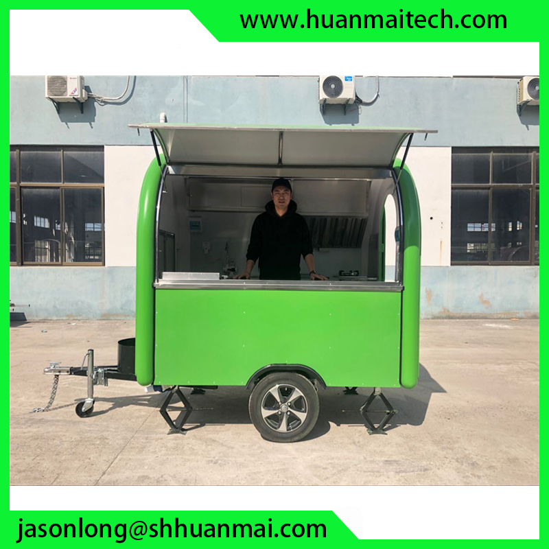 Mobile Kitchen Custom Enclosed Concession Food Truck Trailers Small Coffee Carts