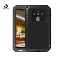 Aluminum Metal Case For Huawei Mate 10 Pro Case Gorilla Glass Shockproof Cover Full Body Phone