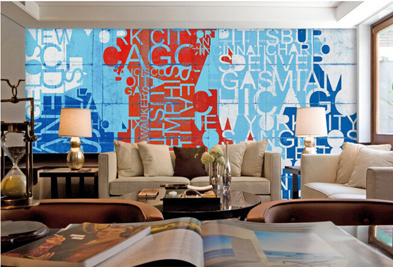 Compare prices on painting fonts online shopping buy low for Custom mural cost