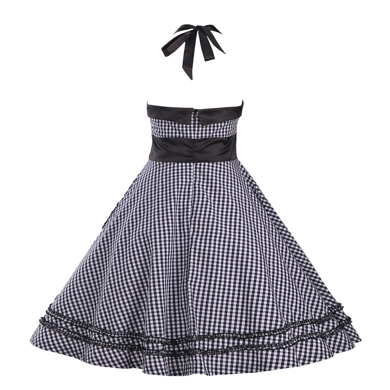 Women Dress Plus Size 3XL Summer Dress 2017 Retro Heart Pockets Ball Gown  Plaid Vintage 60s 50s Rockabilly Chic Dresses vestidos-in Dresses from  Women s ... 71b16bfa881f