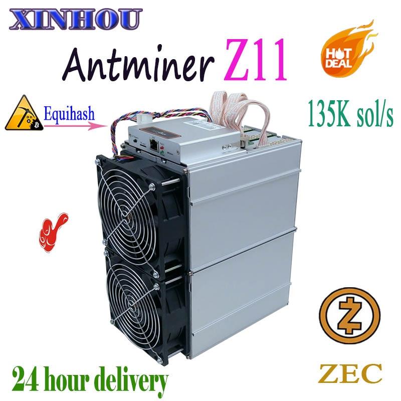 ZEC Zcash Minatore Antminer Z11 135 k Sol/s Equihash Asic minatore Meglio di S9 Z9 B7 S15 S11 innosilicon A9 Whatsminer M3 baikal G28
