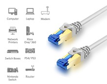 RJ45 Ethernet Cable Gigabit High Speed Cat6 Network Cable Round 5M 10M 15M 30M ,Patch Lan Cord for Computer Cable Ethernet