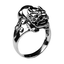 Real 925 Sterling Silver Jewelry Brave Stroops Pi Xiu Ring Men Blessing Lucky Vintage Style Animal Anel Masculino(China)