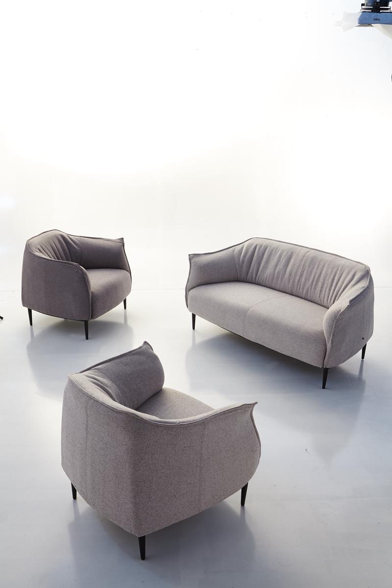 nueva venta caliente moderno lino tela del sof de la sala sof de china
