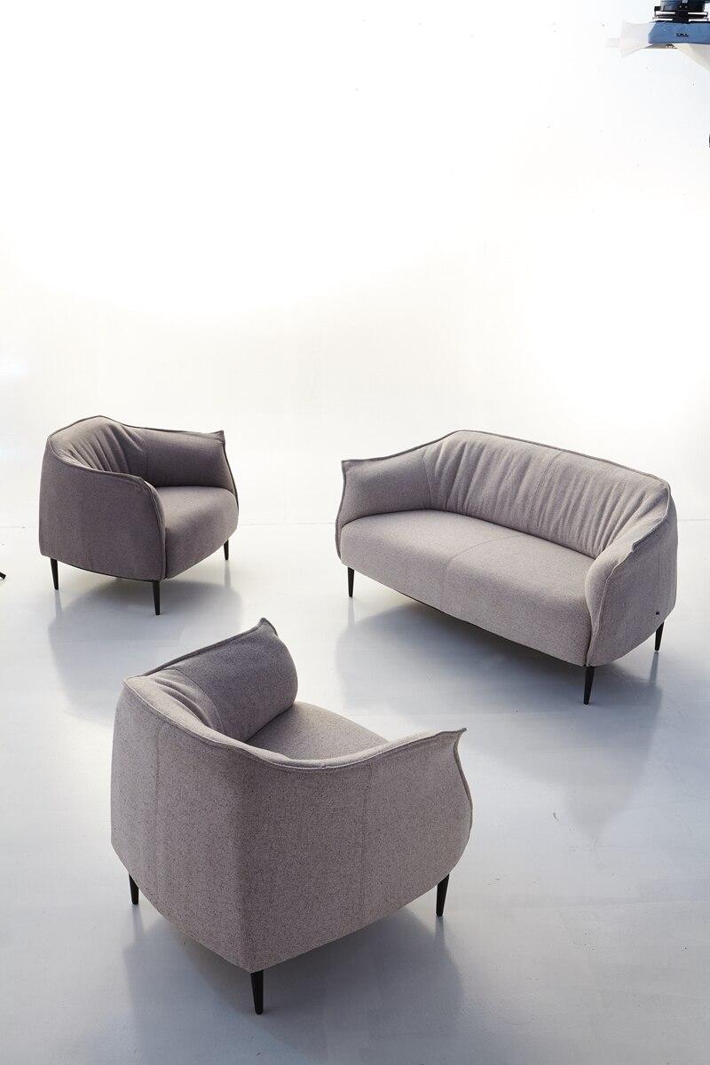 2018 Новый Лидер продаж Современные льняной ткани диваном гостиной диван Китай u-образный 1 + 2 + 3 ...