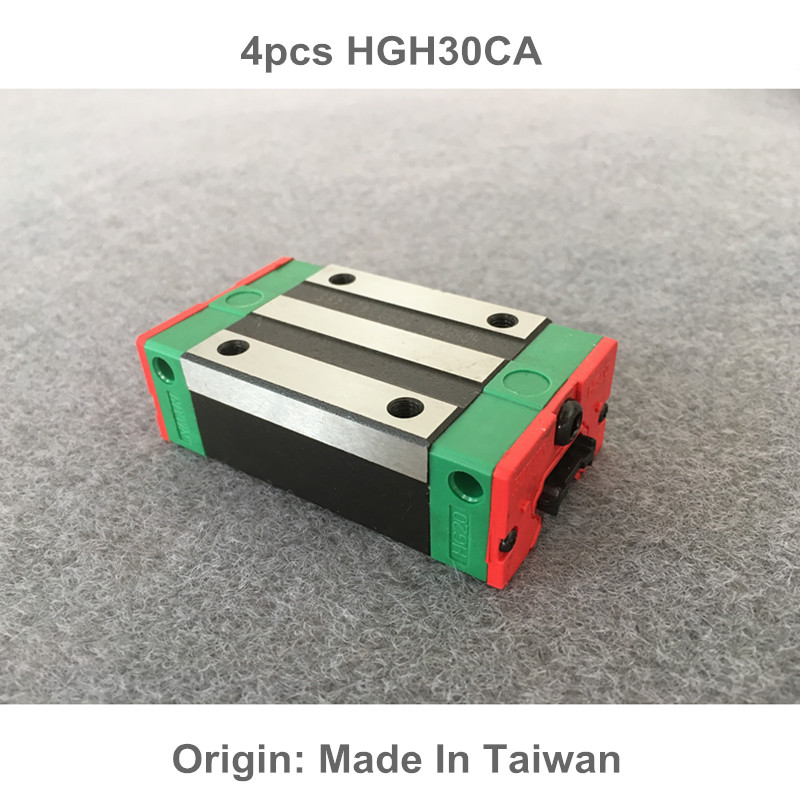 4pcs HGH30CA 100% New Original HIWIN linear guide blocks HIWIN linear Rails hiwin slider hgh30ca hgh30ha linear guide slider a original one