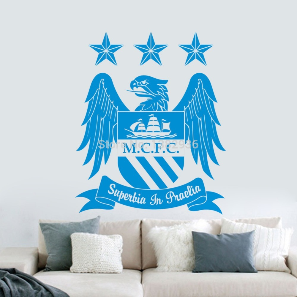 2015 new zy8365 new premier league team logo mcfc bedroom living room